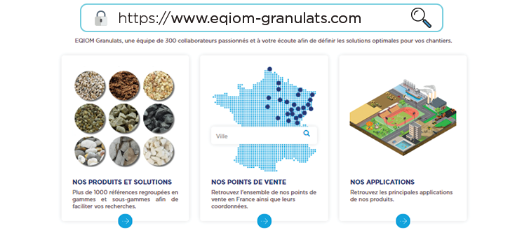 Site web EQIOM Granulats